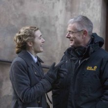 Kate Winslet e il regista Stephen Daldry sul set del film The Reader