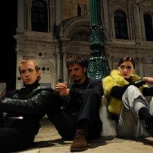 Lorenzo Gleijeses, Giulia Steigerwalt e Nicolas Vaporidis in una scena del film Iago