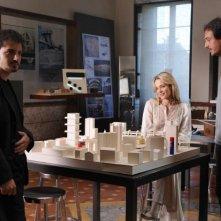 Nicolas Vaporidis, Laura Chiatti e il regista Volfango De Biasi sul set del film Iago