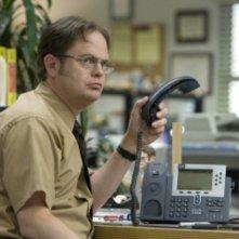 Rainn Wilson in una scena dell'episodio Customer Survey di The Office