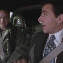 Steve Carell e Rainn Wilson in una scena dell'episodio Prince Family Paper di The Office