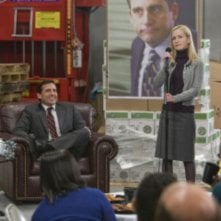 Steve Carell ed Angela Kinsey in una scena dell'episodio Stress Relief di The Office