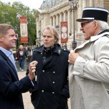 Il regista Harald Zwart e Steve Martin sul set de La pantera rosa 2