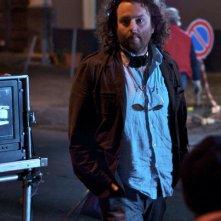 Daniele Gangemi sul set del film Una notte blu cobalto