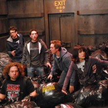 Jay Baruchel, Dan Fogler, Chris Marquette, Sam Huntington e Kristen Bell in una scena del film Fanboys