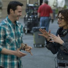 Keanu Reeves e Rebecca Miller sul set di The Private Lives of Pippa Lee