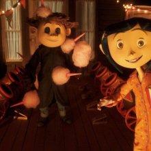 Nell'Altro Mondo, Wybie e Coraline visitano un circo nel film Coraline e la porta magica