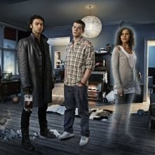 Mitchell (Aidan Turner), George (Russell Tovey) ed Annie (Lenora Crichlow) in una foto promozionale di Being Human