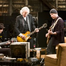 Wallpaper di The Edge, Jimmy Page e Jack White nel film It Might Get Loud