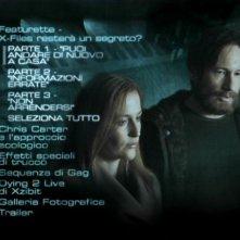 Il menù del secondo disco di X-Files: Voglio crederci - Edizione speciale