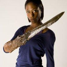 Nikki Amuka-Bird in un'immagine promozionale dell'episodio 'L'agente dormiente' della serie tv Torchwood