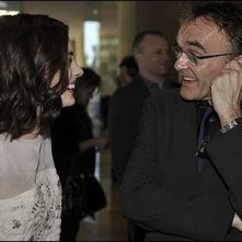 Anne Hathaway e Danny Boyle all'Oscar Luncheon 2009