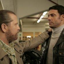 Marco Falaguasta e Joe Capalbo in una scena dell'episodio Il Ministeriale della serie Il bene e il male
