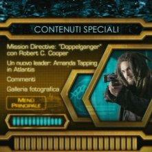 La schermata del menù dei contenuti speciali del DVD di Stargate: Atlantis, quarta stagione