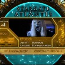La schermata del menù del DVD di Stargate: Atlantis, quarta stagione