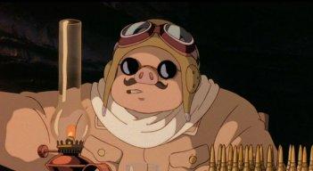 Un'immagine del film Porco Rosso