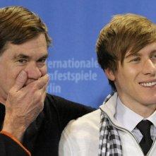 Berlinale 2009: Gus Van Sant e Dustin Lance Black durante la presentazione di Milk.