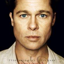 Brad Pitt nella versione italiana di uno dei poster realizzati per Il curioso caso di Benjamin Button