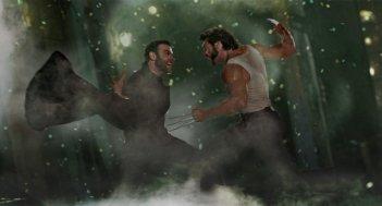 Hugh Jackman in una sequenza del film X-Men Origins: Wolverine  (2009)