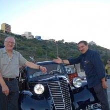Djoko Rossich e il regista Beppe Cino sul set del film Quell'estate felice