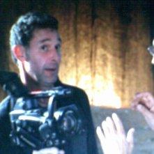 Fabio Olmi sul set di un film