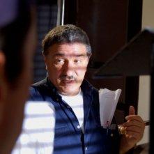 Il regista Beppe Cino sul set del film Quell'estate felice