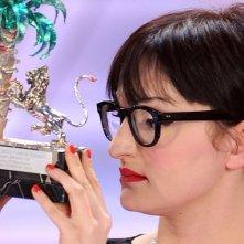 Arisa, vincitrice della sezione 'Nuove proposte' del Festival di Sanremo 2009