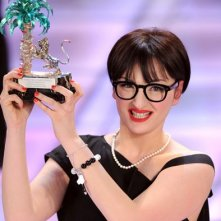 La giovane Arisa, vincitrice della sezione 'Nuove proposte' del Festival di Sanremo 2009