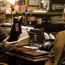 Matt Frewer e Patrick Wilson in una scena del film Watchmen