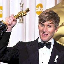 Oscar 2009: Dustin Lance riceve l'Oscar per la sceneggiatura di Milk