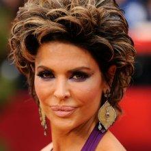 Un primo piano di Lisa Rinna sul red carpet degli Oscar 2009