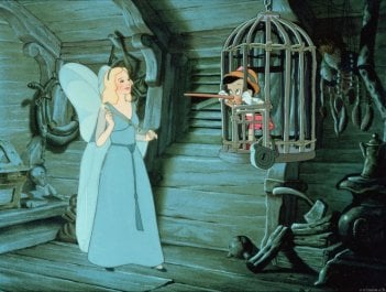 Una immagine del film d'animazione Pinocchio (1940)