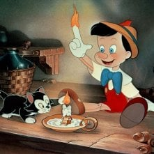 Una scena del cartoon Pinocchio (1940)