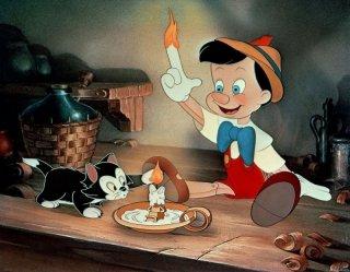 Una scena del cartoon Pinocchio (1940)