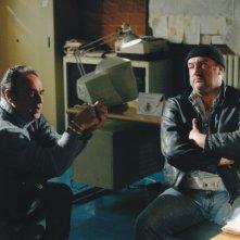 Gaetano Amato e Federico Torre in una sequenza del serial La squadra