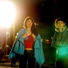 Crisula Stafida sul set del film Il soffio dell'Anima