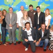 Il cast del film il Soffio dell'Anima a Venezia 2007: Flavio Montrucchio, Lucrezia Piaggio, Giampiero Lisarelli, Crisula Stafida con Valentina Lippi Bruni e i produttori.