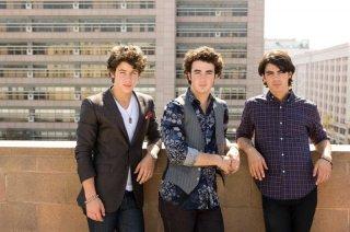 Nick, Kevin e Joe Jonas in una foto promozionale di Jonas Brothers: The 3D Concert Experience