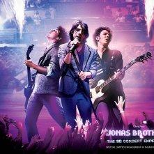 Un wallpaper del film-concerto Jonas Brothers: The 3D Concert Experience