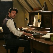 Alessio Boni in una scena della fiction Rai su Giacono Puccini