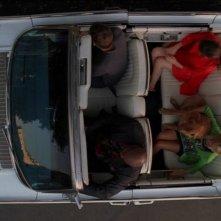 Anna Friel, Lee Pace, Chi McBride e Kristin Chenoweth nell'episodio 'Il super cane' della serie tv Pushing Daisies