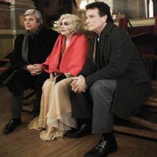Jean Sorel, Adriana Asti e Massimo Ranieri sul set del film L'ultimo Pulcinella