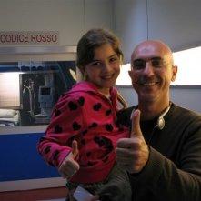 Angelica Cinquantini con Francesco Miccicchè, regista di Medicina Generale 2