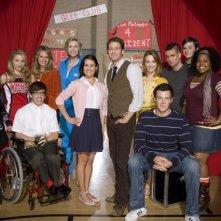 Il cast di Glee in una foto promozionale della serie