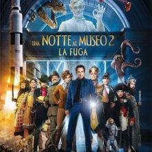 La locandina italiana di Notte al museo 2: la fuga
