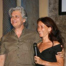 Ortensia De Francesco accanto a Fabrizio Bentivoglio