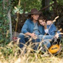 Billy Ray Cyrus e Miley Cyrus in un'immagine di Hannah Montana: The Movie
