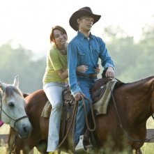 Miley Cyrus e Lucas Till in un'immagine del film Hannah Montana: The Movie