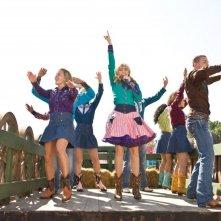 Miley Cyrus in una sequenza del film Hannah Montana: The Movie