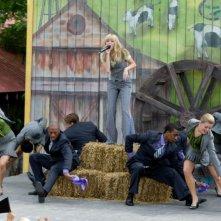 Miley Cyrus in una sequenza di Hannah Montana: The Movie